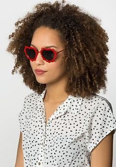 Jeepers Peepers - Gafas de sol - red lace heart