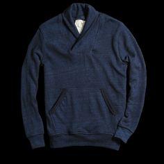 UNIONMADE - UNIONMADE Indigo - Farm Tactics Shawl Collar Pullover