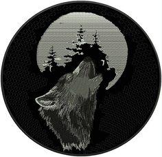 Howling Wolf patch - Aufnäher Der Wolf heult - chevron El lobo aulla - нашивка Волчий вой