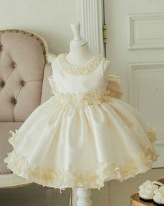 Flower Girl Dress, Champagne Flower Girl Dress, Ivory