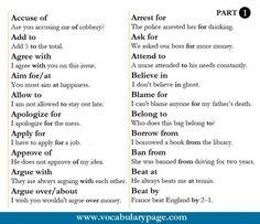 Verbs & Prepositions