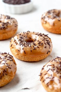 Baked Orange Donuts with Salted Caramel Glaze - Full of Plants