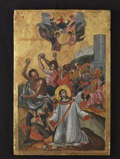 Saint Stephen, Byzantine Icons, Orthodox Icons, Online Collections, 17th Century, Art Museum, Folk Art, Saints, Painting