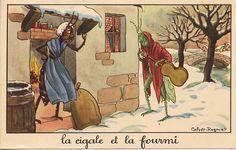 A Jean de la Fontaine fable helped the noisome cicada bug burrow its way into Provençal hearts. Bon Point, Les Fables, D Book, Famous French, Dark Fantasy Art, Les Oeuvres, Fairy Tales, Creatures, Symbols