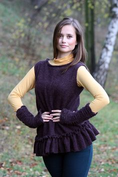 Tunika či šaty s volánkem