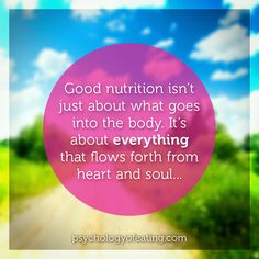 Nutrition Eating Psychology