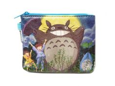 Totoro: Blue ID & Coin Purse - Totoro with the Moon by My Neighbor Totoro. Save 50 Off!. $8.99. Use this Totoro inspired wallet to carry small everyday items!. This fun zipper purse is a great way to carry around your coins, cards, and bills!. The small pocket is about 3.5 x 4.75-inches with a single zipper closure.. Carry Totoro everyday along with your small everyday needs!. The back also has a clear window ID slot. Carry your work or school ID with this easy to use wallet!. Th...
