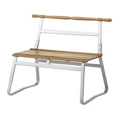 IKEA - IKEA PS 2014, Bench, outdoor, The bench stands steady even when placed on soft surfaces, because it doesn't have legs that may sink into the ground.