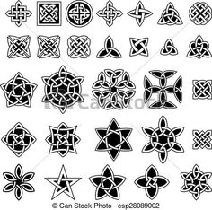 Vector - 25 Celtic knots collection - stock illustration, royalty free illustrations, stock clip art icon, stock clipart icons, logo, line art, EPS picture, pictures, graphic, graphics, drawing, drawings, vector image, artwork, EPS vector art