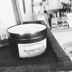 @lapetitemaisontn  One of my favorites! Leather and whiskey.  It smells divine! #southernfirefly #shopsmall #shoplocal @southernfireflycandle #nashville #candles