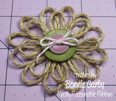 Loopy Jute Flower Tutorial