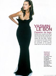 Yasmin Le Bon by Marc Hispard - Elle Spain 1998.