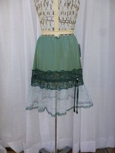 Ruffle Slip Skirt P/S Forest Grass Green Glam Garb by glamgarb