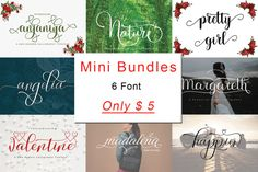 MINI BUNDLES #socialmediapromotions #titles #signatures #logos #tshirts #letterhead #nameboards #labels #bulletins #branding