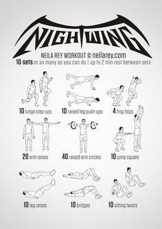 Night wing workout