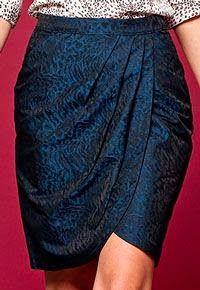 Patrón gratis: falda tulipán con drapeado (todas las tallas)...