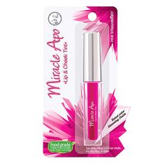 Son nước Miracle Apo Lip & Check Tint  Pink Strawberry 2ml (Hồng dâu)