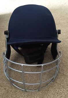 Gray Nicolls Elite Helmet Face Guard Caged Hat Hard Nice Blue Chin Strap Youth Free Shipping