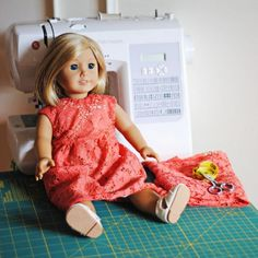 The chloe dress is a free 18 inch doll dress pattern to sew from imagine gnats.