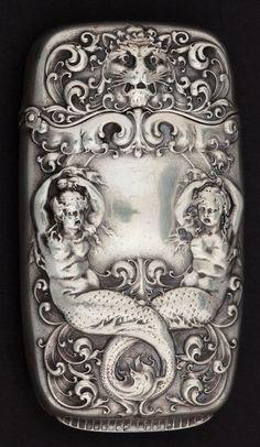 Antique match safe