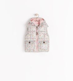 ZARA - KIDS - PADDED VEST WITH HOOD