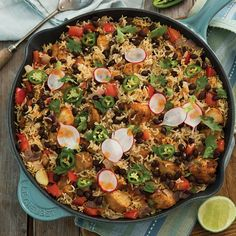 Fresh cilantro, jalapeño, and smoky spices add exotic flavor to classic chicken and rice.
