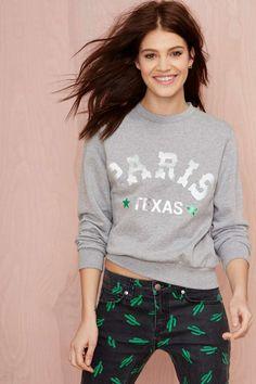 American Retro Paris Texas Sweatshirt - Sweatshirts | Graphics | American Retro | American Retro |  | Tops