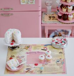 Sweet Petite Funfetti Cake and Baking Board by SweetPetiteShoppe, $25.00