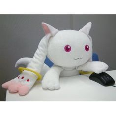 Puella Magi Madoka Magica Kyubey Big Mofu Dakimakura Plush Pillow: Amazon.co.uk: Toys & Games    My wish would be for one of these.