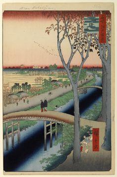 「小梅堤」歌川広重 名所江戸百景 105