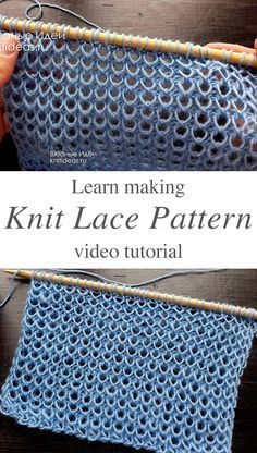 Lace Knitting Patterns, Knitting Stiches, Easy Knitting, Loom Knitting, Knitting Designs, Knitting Projects, Crochet Stitches, Knitting Tutorials, Knitting Machine