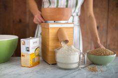 Now you can grind fresh whole grain einkorn flour from jovial's wheat berries.