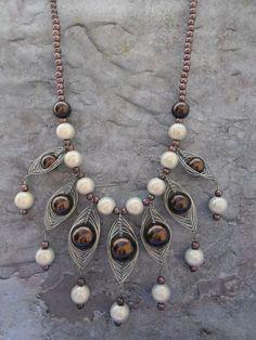 Homemade statement necklace / exuberantly door JHFWBeadsAndFindings