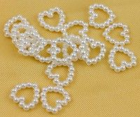 Wish | (Size1 = Heart, Size 2 = Bowknot, Etc..)200Pcs Faux Pearl Heart/Rectangle Different Shape Beads for Wedding Scrapbooking Craft 11mm X 11mm