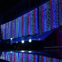 Nofonda 800led Window Curtain Icicle Led Lights String Fairy Light Christmas Wedding Party Home Garden String Lights Decorations 8m3m Multi Color * Be sure to check out this awesome product.
