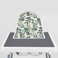 Sage and Gold Berries // IKEA Antilop Highchair Cover // High Chair Cover for the KLÄMMIG or PYTTIG