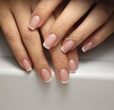 Trendy Ideas For French Manicure Acrylic Nails Long Natural French Manicure Acrylic Nails, French Tip Nails, Manicure And Pedicure, Fancy Nails, Pink Nails, Cute Nails, Cute Nail Art Designs, Nail Design, Design Design