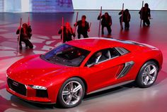 The new Audi Nanuk Quatro is presented during a preview by the Volkswagen Group prior to the 65th Frankfurt Auto Show