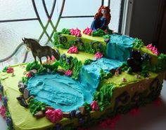 Disney's Brave Cake    I made this for my daughter's 7th birthday...          I got the layout idea from a tinkerbell cake I saw online bu...