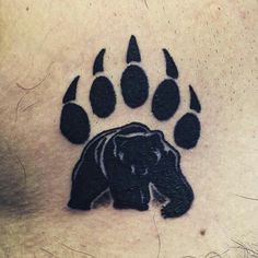 Bear Paw Tattoo – 45 Claw Print Tattoo Ideas // September, 2019 cute bear claw tattoo in the bold black Tribal Bear Tattoo, Bear Paw Tattoos, Grizzly Bear Tattoos, Wolf Tattoos, Animal Tattoos, Cute Tattoos, Body Art Tattoos, Print Tattoos, Black Bear Tattoo
