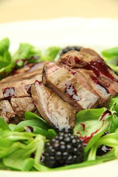 Pan Fried Grouse with Blackberries & Blackberry Dressing