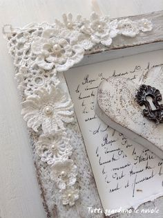 "Visit our website for more relevant information on ""shabby chic furniture ideas"". It is actually an exceptional spot to read more. Fleurs Style Shabby Chic, Shabby Chic Romantique, Cottage Shabby Chic, Romantic Shabby Chic, Shabby Chic Picture Frames, Shabby Chic Accessories, Doilies Crafts, Crochet Motifs, Rustic Wall Art"