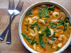 * Coconut Prawn Curry