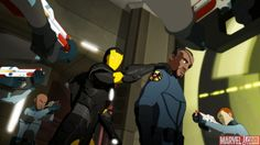 iron man armored adventures shield helicarrer | Nick Fury Becomes A Human Shield