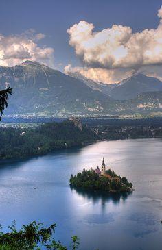 Bled Island, Slovenia with @Tiffany Del Rio