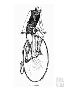 Penny Farthing Bicycle Art Print at Art.com