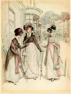 "I love this image ""Borrowed"" from EclecticDJ Ladies on People who Love The Regency Era at FaceBook - I like the pocket flap detail in the long coat"