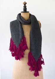 Carolina Pom Scarf- hand knit alpaca from Peru Knitted Shawls, Crochet Scarves, Knit Crochet, Crochet Hats, Noonday Jewelry, Noonday Collection, Pompom Scarf, Scarf Sale, Peru
