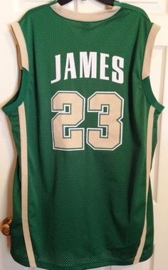 53b46399286a Lebron James High School 23 Jersey Nike St Vincent St Mary s Irish 2003 XXL  Cavs