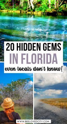 Places In Florida, Visit Florida, Florida Vacation, Florida Beaches, Hidden Places, Secret Places, Travel Ideas, Travel Inspiration, Travel Tips